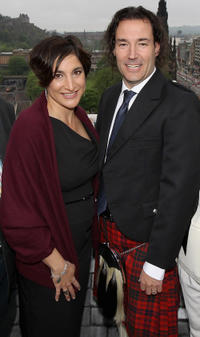 Producer Katherine Sarafian and Mark Andrews at the photocall of