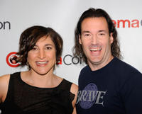 Producer Katherine Sarafian and Mark Andrews at the promotional event for