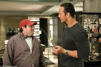Director Andy Fickman and The Rock on the set of