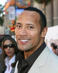 The Rock at the Hollywood premiere of