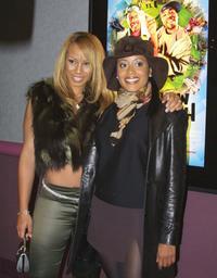 Jonell and Essence Atkins at the premiere of