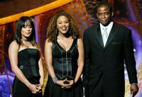 Essence Atkins, Rachel True and Dule Hill at the 35th Annual NAACP Image Awards.