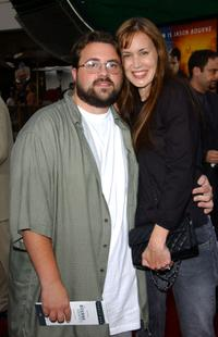 Kevin Smith and Jennifer Schwalbach Smith at the premiere screening of