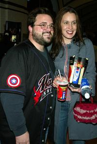 Kevin Smith and Jennifer Schwalbach Smith at the premiere of