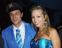 Johnny Knoxville and Shelly Burkard at the after party for the premiere of