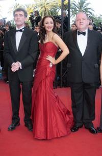 Steve Evets, Lucy-Jo Hudson and John Henshaw at the 62nd Cannes Film Festival.