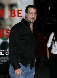 Joey Fatone at the premiere of