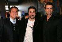 Bob Guiney, Joey Fatone and Cameron Mathison at the Discovery Upfront Presentation New York Talent Images.