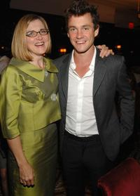 Hugh Dancy and Robin Swicord at the lunch in honor of
