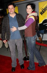 Jimmy Kimmel and Sarah Silverman at the premiere of