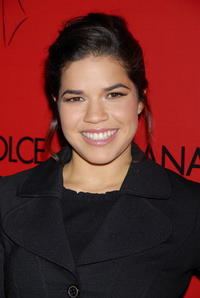 America Ferrera at the announcement of the charity collaboration between fashion designers Dolce & Gabbana and actress Penelope Cruz in Los Angeles.