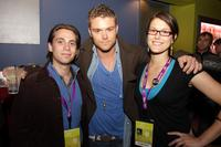 Jason Brown, Clayne Crawford and Abigail Carpenter at the SAG Indie Party during the 2008 Tribeca Film Festival.