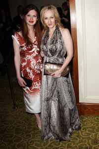 Bonnie Wright and J.K. Rowling at the Orange British Academy Film Awards 2011 dinner in England.
