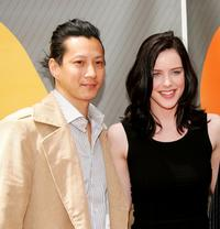 Will Yun Lee and Michelle Ryan at the NBC Upfront.