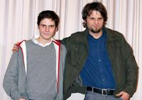 Daniel Bruhl and Hans Weingartner at the press conference to promote