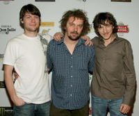 Patrick Fugit, Director/writer Goran Dukic and John Hawkes at the party for