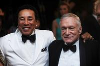 Smokey Robinson and Hugh Hefner at the Barnstable Brown Kentucky Derby Eve Gala.