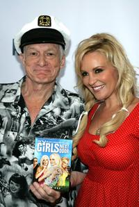 Hugh Hefner and Bridget Marquardt at the unveiling of Holly Madison's