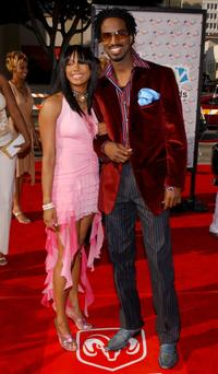 Jasmine King and Rickey Smiley at the First-Ever BET Comedy Awards.