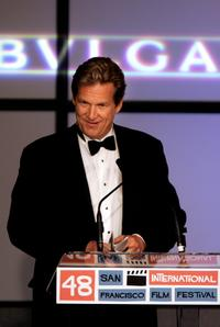 Jeff Bridges at the 48th San Francisco International Film Festival Film Society Awards.