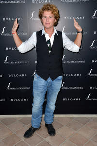 Filippo Pucillo at the 2012 Nastri d'Argento Awards cocktail party in Italy.