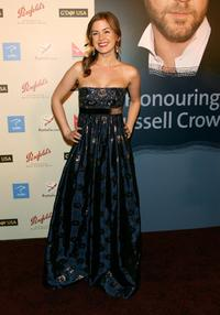 Isla Fisher at the G'Day USA Penfolds Black Tie Icon Gala.