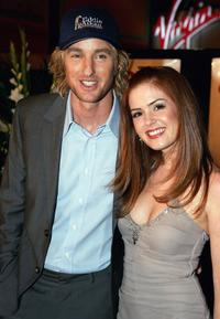 Owen Wilson and Isla Fisher at the Melbourne premiere of