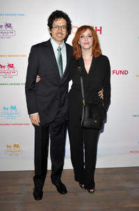 Geoffrey Arend and Christina Hendricks at the Evening of Cocktails and Shopping to Benefit the Children's Defense Fund in California.