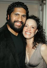 Sala Baker and Rena Owen at the cocktail reception during the 5th Annual Celebration of New Zealand Filmmaking and Creative Talent.