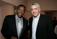Ernie Hudson and Adam Arkin at the celebration honoring Geena Davis as this year's Hollywood Hero by USA Today.