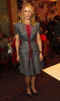 Felicity Huffman at the holiday party hosted by Jenny Jones.