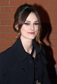 Keira Knightley at London's Westway to attend the British Tuesday.
