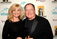 Bonnie Hunt and Producer John Lasseter at the Hollywood Film Festival 10th Annual Hollywood Awards Gala Ceremony.