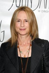 Holly Hunter at the re-launch of the John Sahag Workshop.