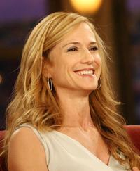 Holly Hunter at The Late Late Show and Craig Ferguson at CBS Television.