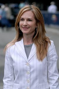 Holly Hunter at the opening ceremony for the US Open at the USTA Billie Jean King National Tennis Center.