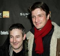 Eddie Jemison and Nathan Fillion at the screening of
