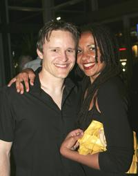 Damon Herriman and Arundell at the cocktail party of
