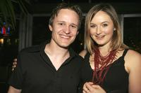 Damon Herriman and Katie Wall at the cocktail party of