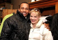 Hill Harper and Melinda Page Hamilton at the Gibson Guitar Lounge.