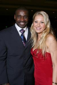 Michael Irvin and Anna Kournikova at the 22nd Annual Cedars-Sinai Sports Spectacular.