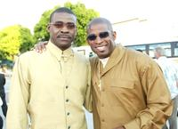 Michael Irvin and Deon Sanders at the premiere of