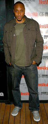 Dorian Missick at the Men's Health style guide fashion week party.