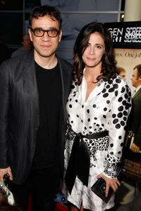 Fred Armisen and Jessika Goyer at the Gen Art Screening of