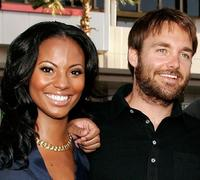 Candice Smith and Will Forte at the premiere of