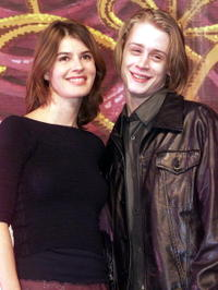 Irene Jacob and Macaulay Culkin at the press in a photocall for their new play