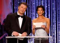 Alec Baldwin and Teri Hatcher at the 13th Annual Screen Actor Guild Awards.
