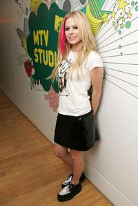 Avril Lavigne at the MTV's Total Request Live.