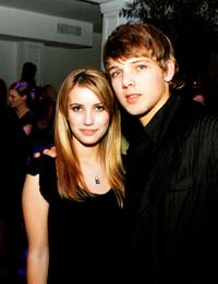 Emma Roberts and Max Thieriot at the afterparty of the premiere of