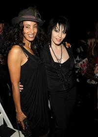 Julie Brown and Joan Jett at the Nicole Miller Fall 2008 fashion show during the Mercedes-Benz Fashion Week.